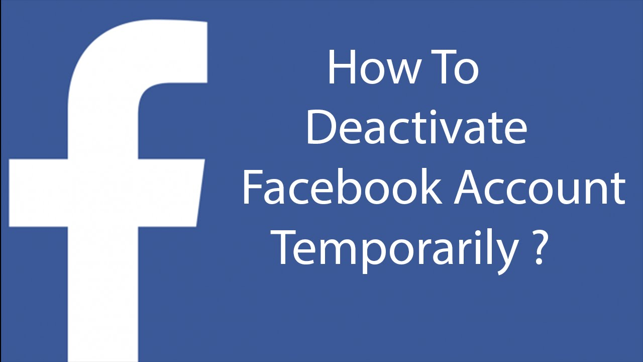How To Remove My Account From Facebook